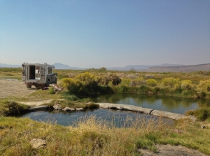 BLM campground and Willow Springs hot springs on the Whitehorse Ranch