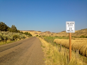 This way to Silver City. I wonder if it is as rugged as the way into this living ghost town from the Idaho side