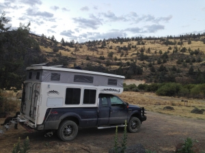 North Fork BLM campground near the North Fork Owyhee River in Idaho
