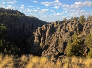 Morning photo of the gorge by North Fork Campground in the North Fork Owyhee Wildnerness