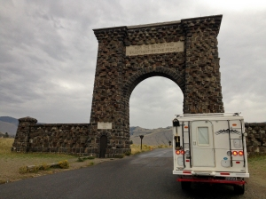 """For the benefit and enjoyment of the People"" North Yellowstone Entrance Arch"