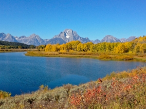 The famous Oxbow Bend in the Tetons