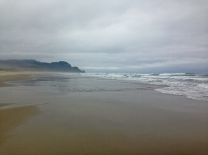 The beach at the Muriel Ponsen State Wayside along the Oregon Coast