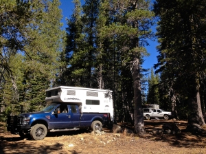 Camping at Meadow Lake campground in the Tahoe National Forest
