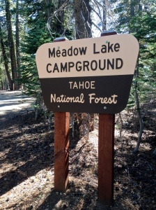 Meadow Lake campground in the Tahoe National Forest, site of a WtW meet up.