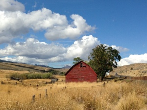 Red Barn on Highway 26 west of Ironside and east of Unity, Oregon
