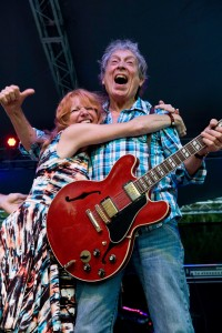 Elvin Bishop with a fan. Elvin Bishop Band. Mt. Baker Blues Festival 08/2014